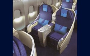 Boeing 777 200LR interior seating