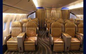 Boeing 777-300ER interior seating