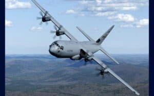 Lockheed Martin C-130J Super Hercules rolling