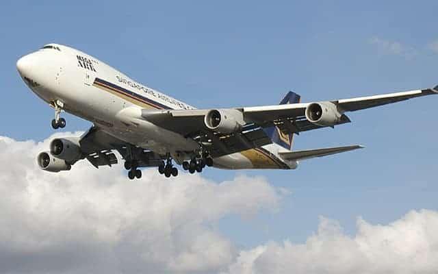 Boeing 747 400F landing gear