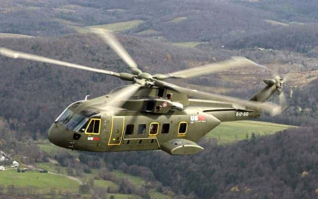 Agusta Westland AW101 Merlin flying