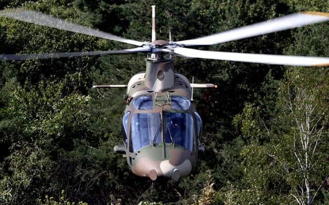 Agusta Westland AW109 LUH in the air