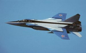 Mikoyan MIG-31 Foxhound showing off