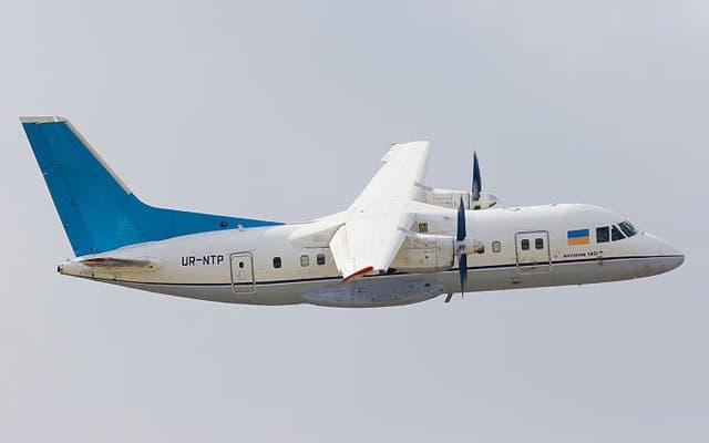 Antonov An-140 flying