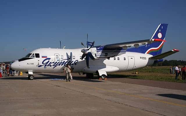 Antonov An-140 grounded