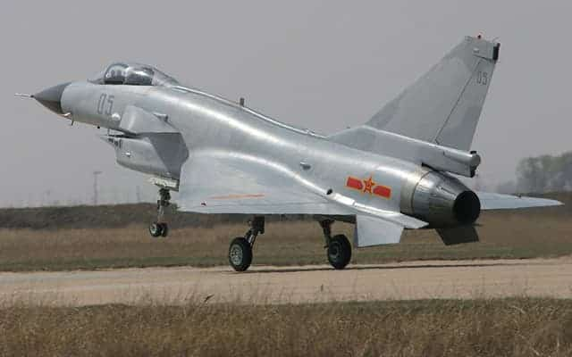 Chengdu J-10 takeoff