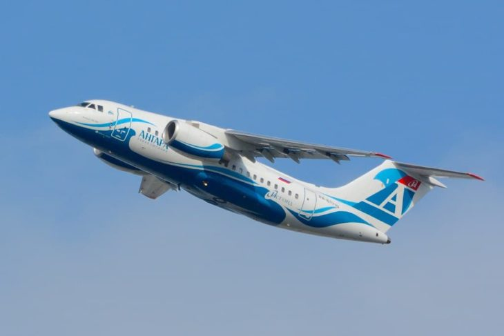 Antonov An-148 Angara Airlines - Climbing