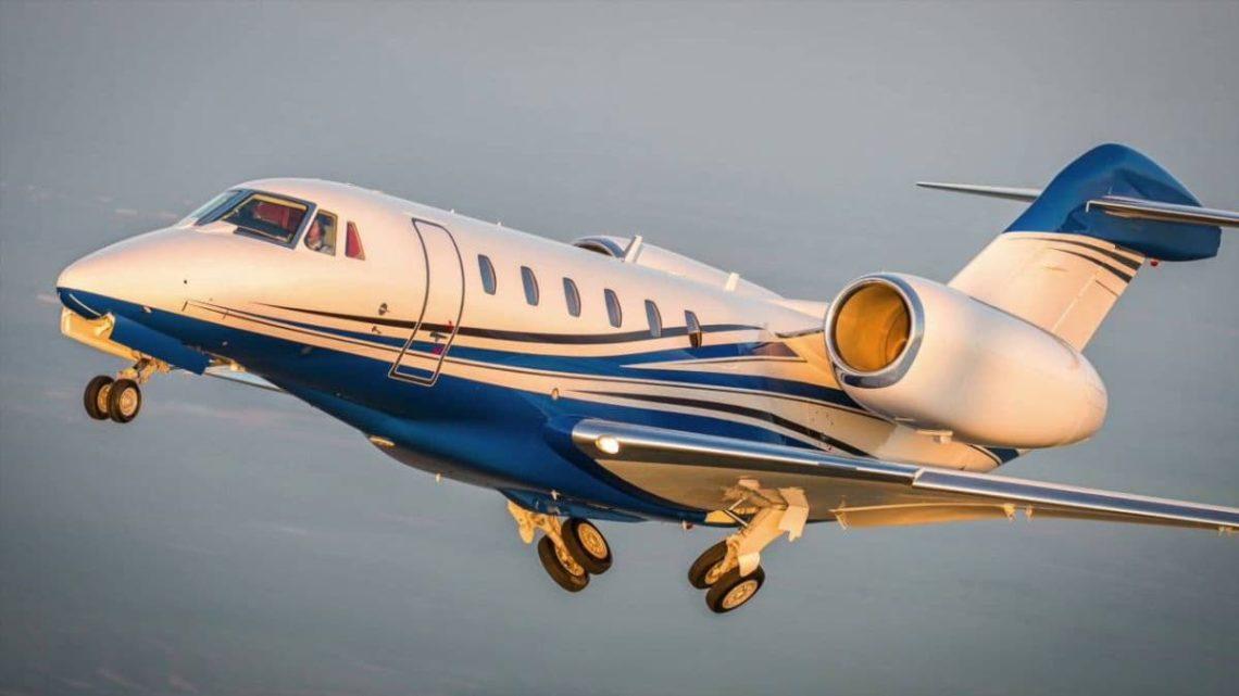 Cessna Citation X retracting landing gear