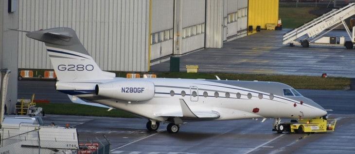 IAI G280 of Gulfstream Aerospace at Birmingham BHX
