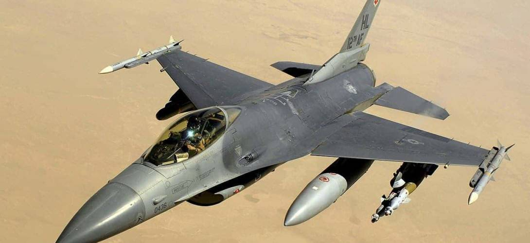 Lockheed Martin F16 Fighting Falcon over Iraq in 2008
