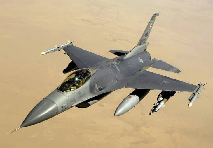 Lockheed Martin F16 Fighting Falcon over Iraq in 2008