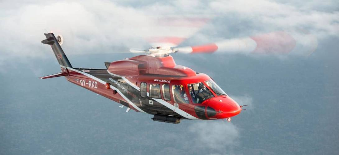 S 76D helicopter utlized for offshore oil mission
