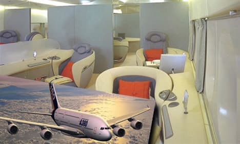 Airbus A380 Private Jet interior featured
