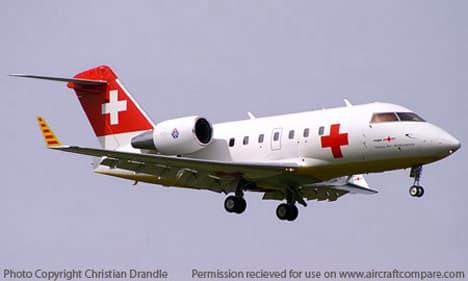 Bombardier Challenger 300 landing