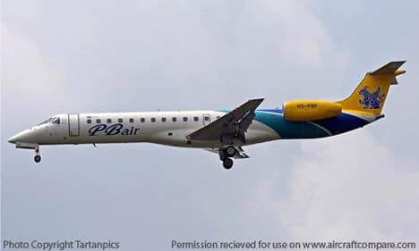 Embraer ERJ 145 coming down