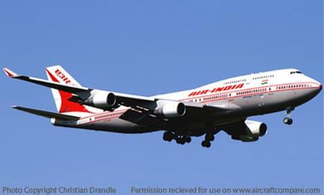 Boeing 747 400 air india