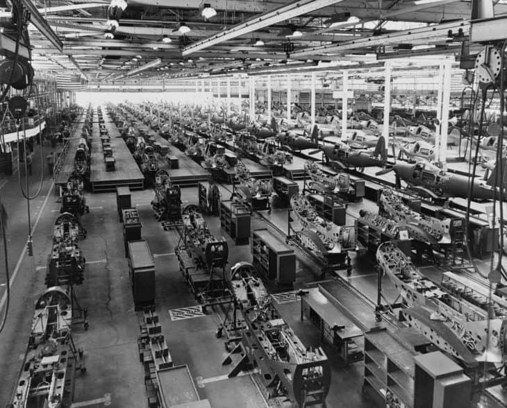 Bell Airacobra P3 Assembly 1940s Buffalo, Niagara Falls, NY