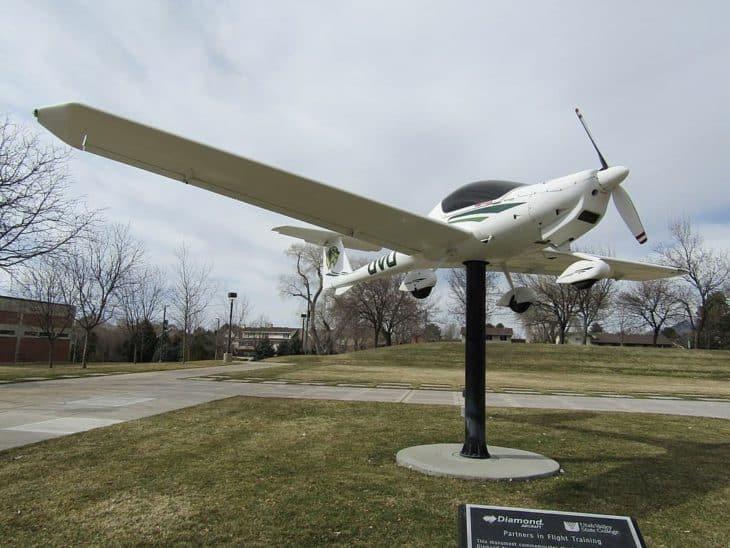 Diamond aircraft statue