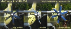 propeller feather on antonov 140