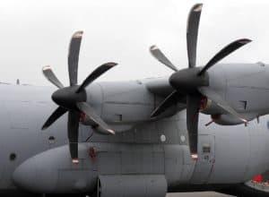 Lockheed Martin C-130J Super Hercules propellors
