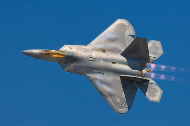 Lockheed Martin F 22A Raptor trapezoidal wing