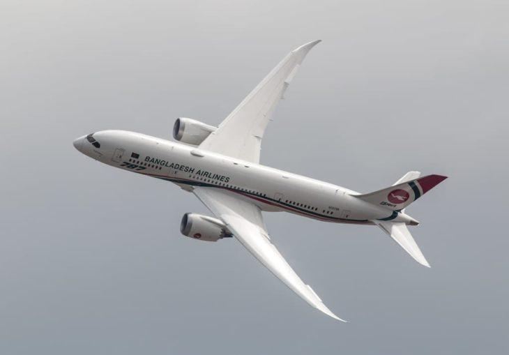 boeing 787 9 dreamliner bangladesh airlines swept back wings