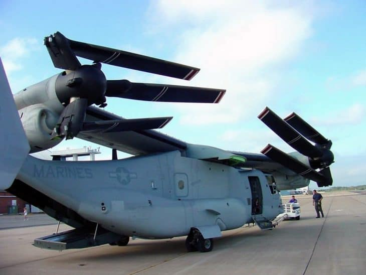 Bell Boeing V-22 Osprey ready for transport