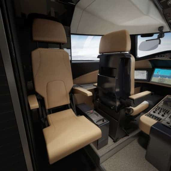 Bombardier Global 8000 interior 5 flight deck