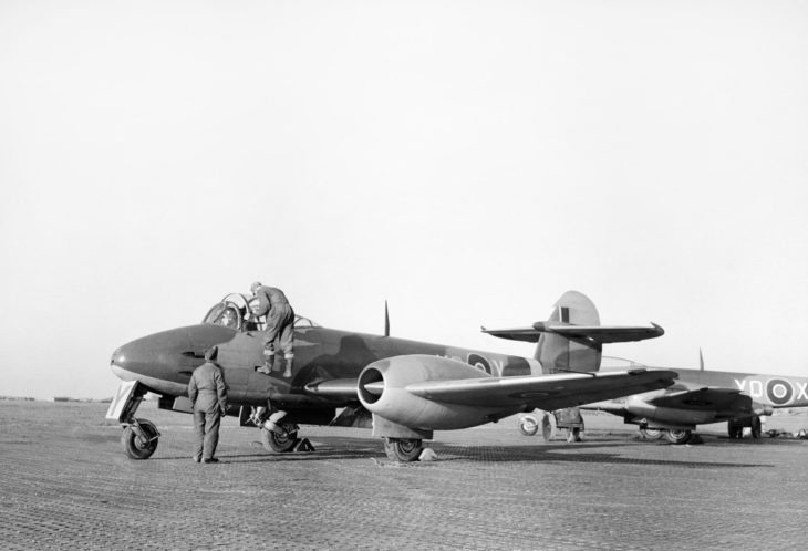 Gloster Meteor RAF at Manston, Kent, 4 January 1945