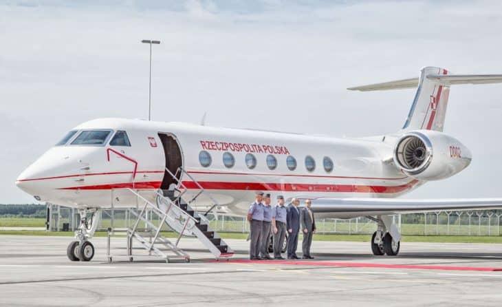 Gulfstream G550 of General Kazimierz Pułaski