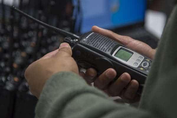 Handheld radio used by military