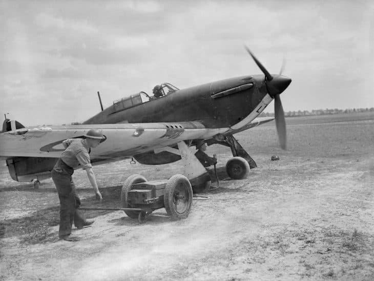 Hawker Hurricane of the Royal Air Force in France