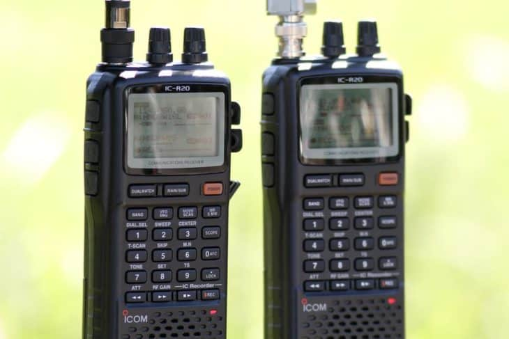 Two ICOM IC-R20s