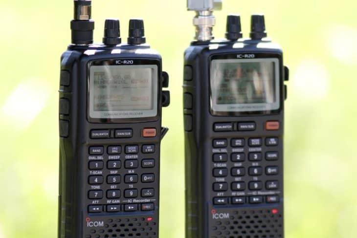 Two ICOM IC-R20s