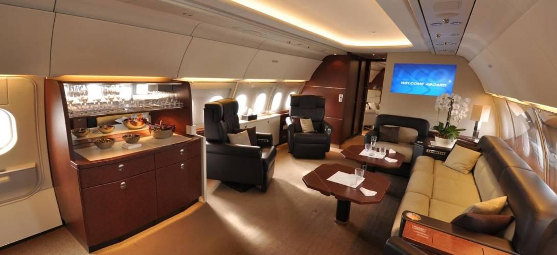 Vijay Mallya Airbus A319 Interior