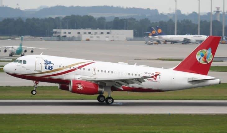 Vijay Mallya Airbus A319 Takeoff