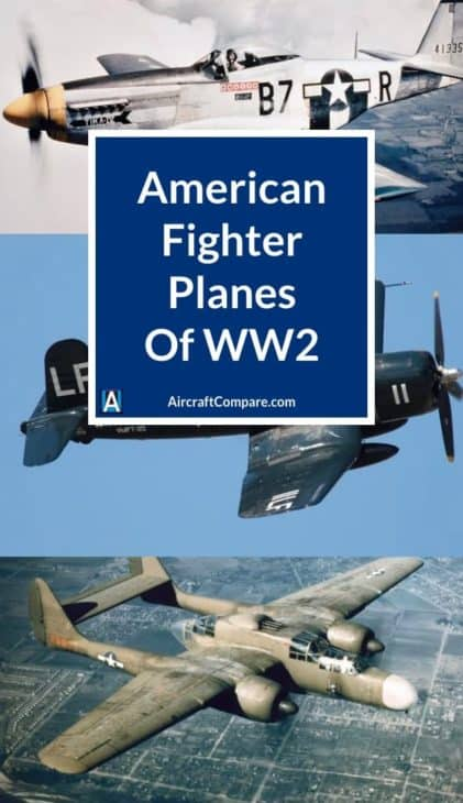american fighter planes of ww2 PIN