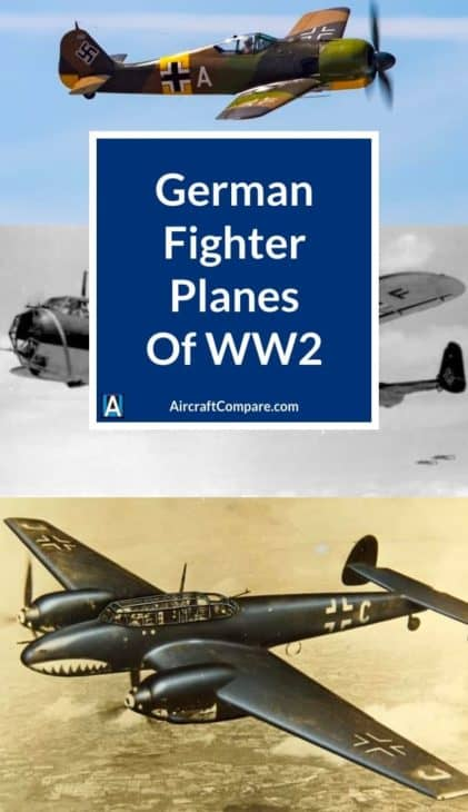 german fighter planes of ww2 PIN