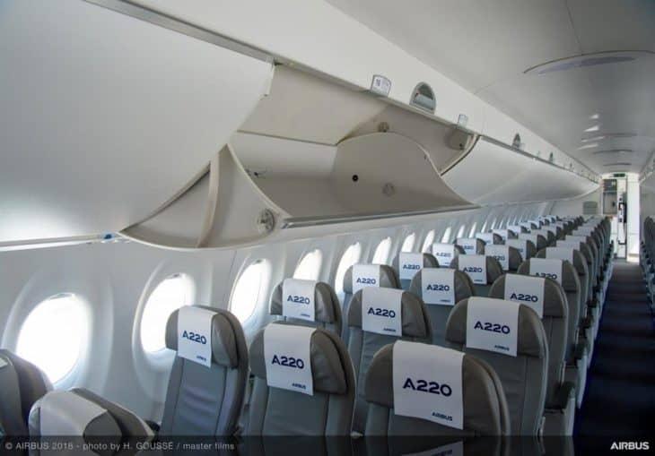Airbus A220-300 Interior Single Aisle