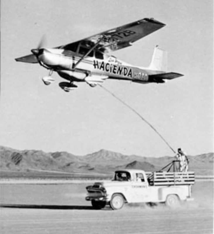 Cessna 172 Hacienda Refueling from Pick-up Truck