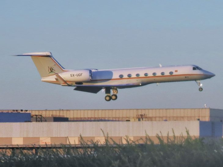 Gulfstream G550 Uganda Government landig at JFK Airport