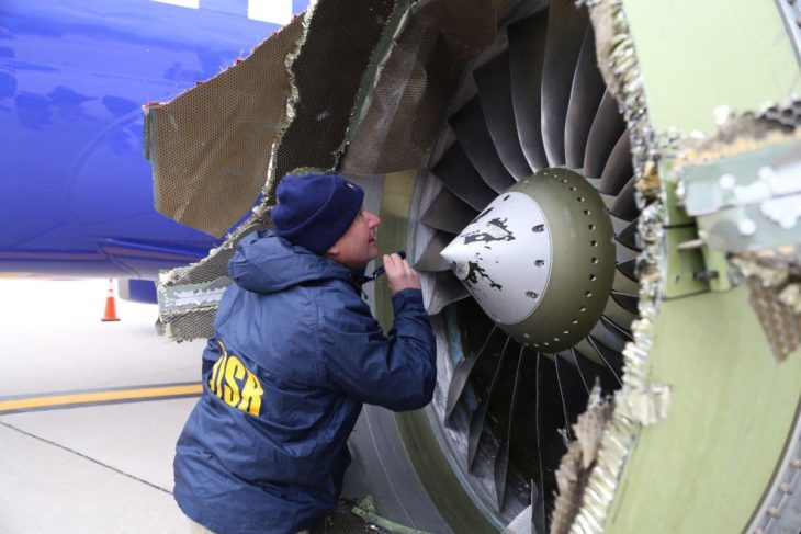 Southwest Airlines Engin Inspection