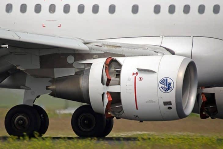 Thrust reverser on Airbus A321
