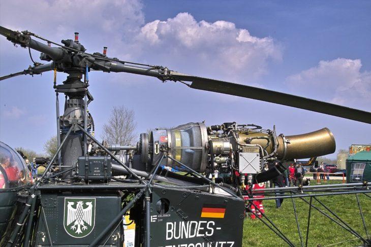 Turboshaft Engine on Helicopter