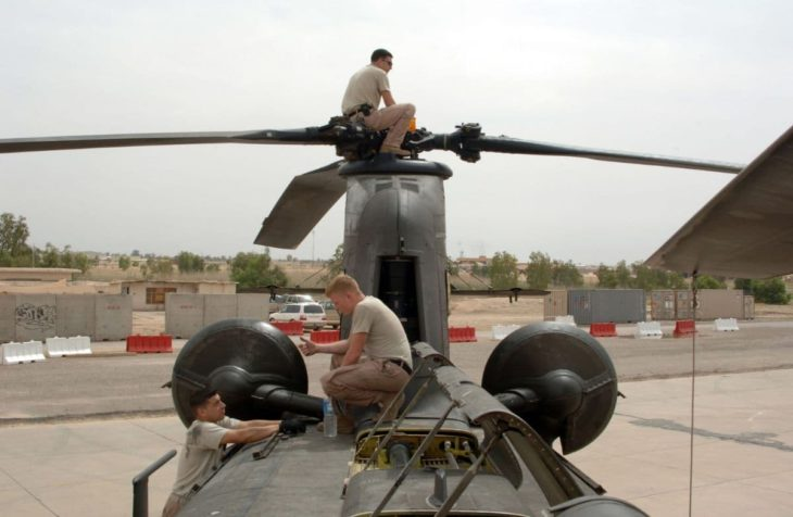 US Army Helicopter Inspection