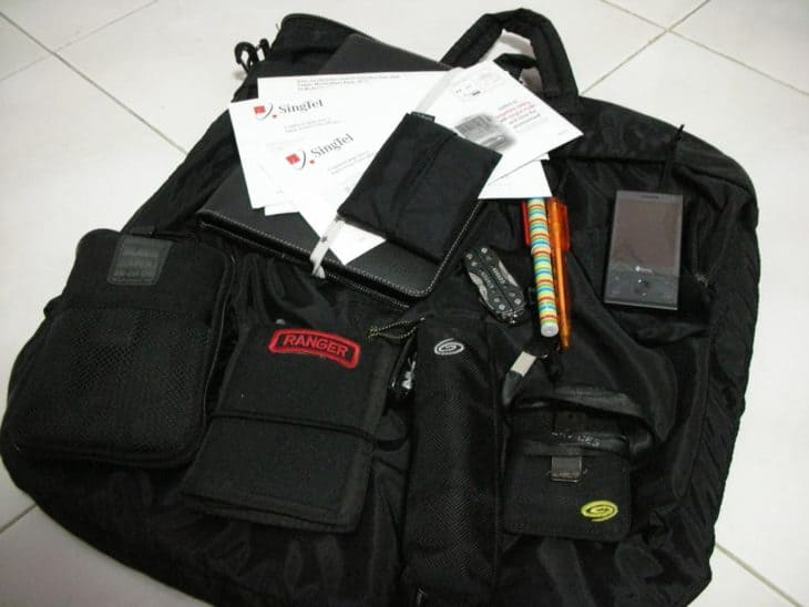 what is in a flight bag?