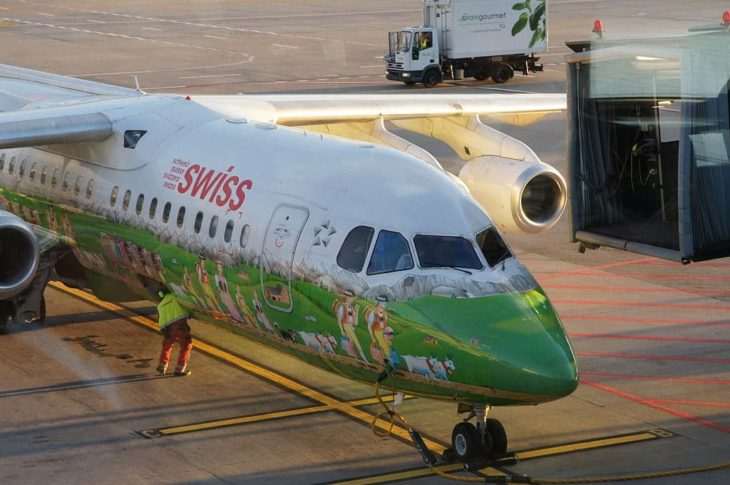 Swiss Airlines Airplane with Special Painting