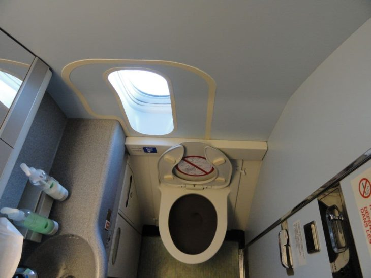 Airplane Toilet with Window