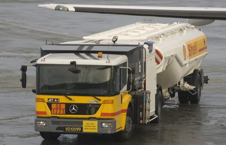 Shell aviation fuel truck