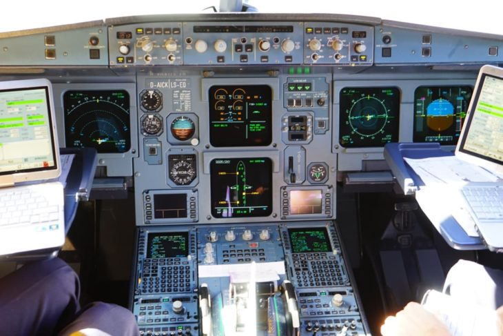 aircraft cockpit aviation instruments flight deck